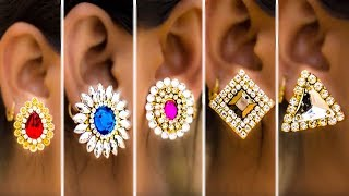 5 easy Stud Earring Design | DIY | 5 min Craft | Hand made jewelry | Art with Creativity