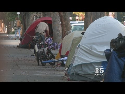 San Francisco Deals With Growing Homeless Encampments In Mission Dist.