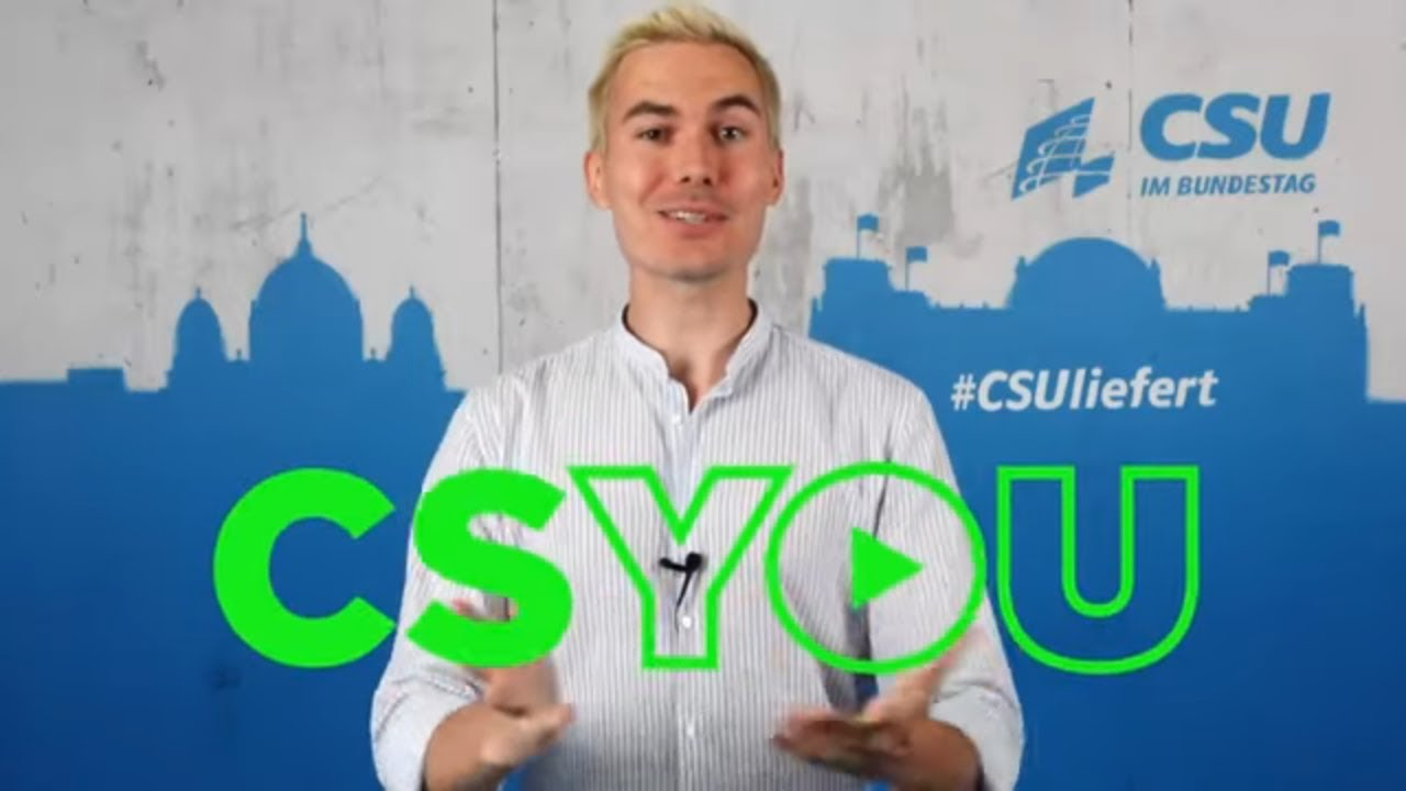 HÄME UND SPOTT:  CSYOU - CSU wagt Social-Media-Offensive #1