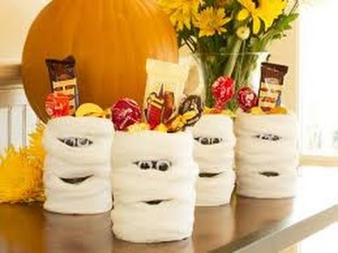 Diy Mummies Using Toilet Paper Rolls Halloween Decorations Youtube