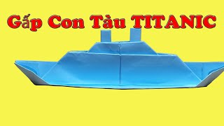 Boat Paper: TITANIC folding ship with paper // VSC VN
