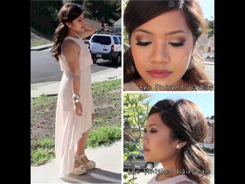 Makeup For Guest Of Wedding : Wedding Guest Makeup, Hair, Nails and Outfit makeupbyritz ...