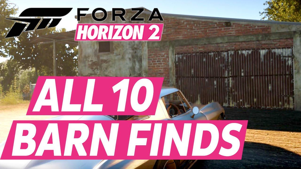 Forza Horizon 2 All Barn Finds Car Locations