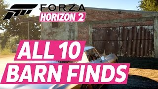 Forza Horizon 2 All Barn Finds Car Locations