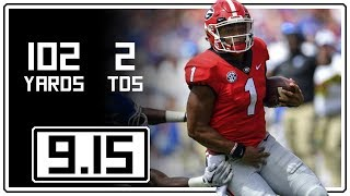 Justin Fields Full Highlights Georgia vs MTSU || 9.15.18 || 102 Total Yards, 2 TDs