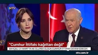Bahçeli Erdoğana sahip çıksınlar .... (Bahçeli, NTV-STAR ortak yayınına katıldı)