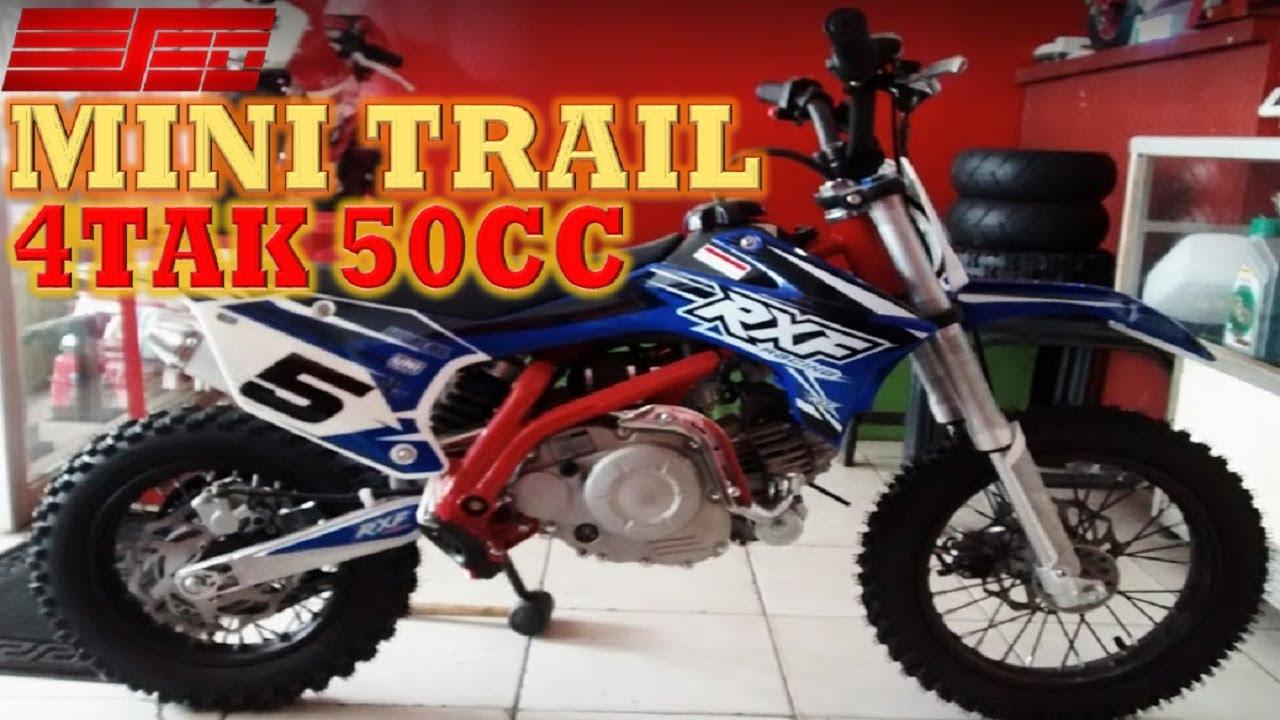 Motor Trail Mini 50cc 4 Tak Metik Depok Youtube