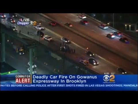 Deadly Car Fire On Gowanus Expressway In Brooklyn