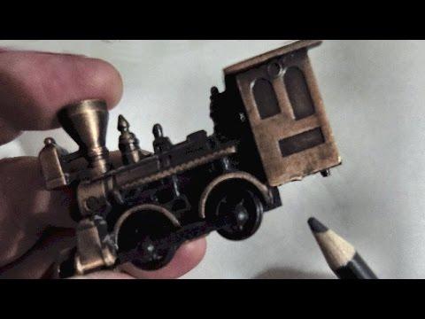 Cast Metal Train Pencil Sharpener, Vintage Collectible
