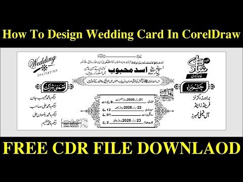 How To Make Wedding-Card-In CorelDraw||CDR Free Download|| Future Academy