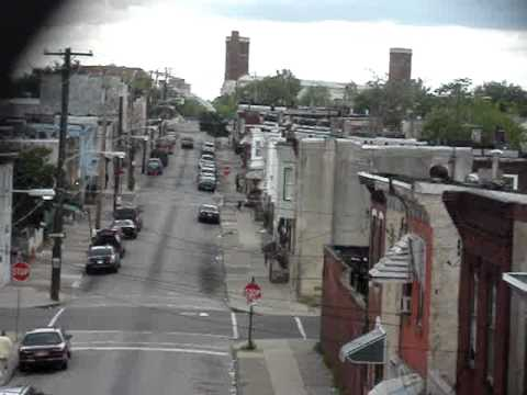 Philly neighborhood street birds eye view - May 2010