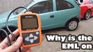 Checking why the EML is on the Corsa