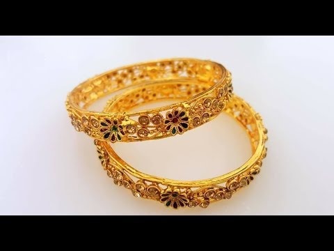 395c71c74c8da2 New fashion golden bangles for cute babys || latest baby bangles designs  online