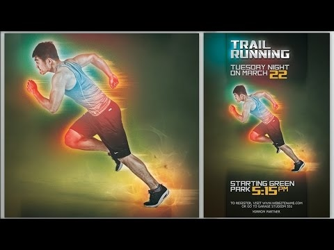 [Photoshop Tutorials] Make Futuristic Color Sport Flyer In Photoshop