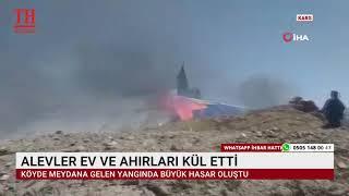 ALEVLER EV VE AHIRLARI KÜL ETTİ