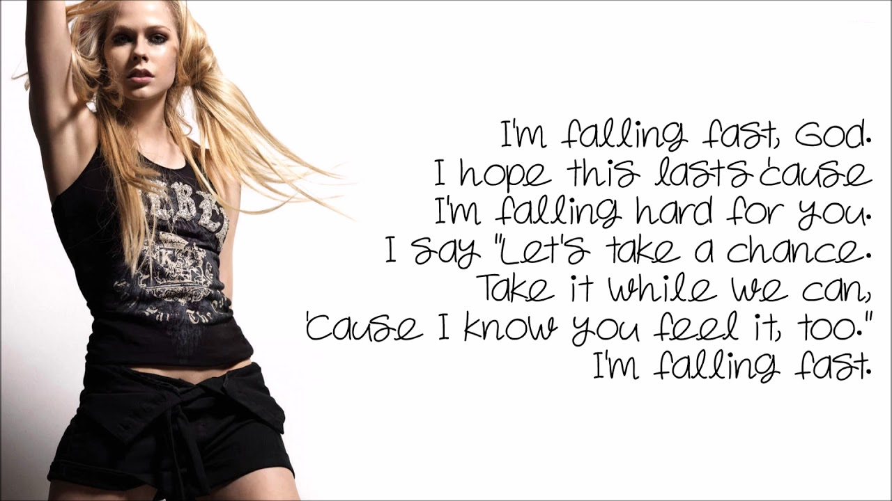 Falling Fast Avril Lavigne Lyrics Youtube