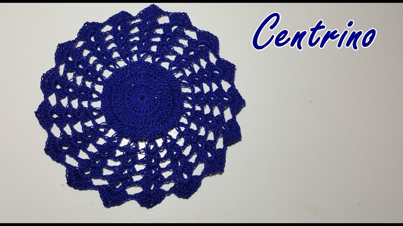 Centrino Blu Alluncinetto Facile E Bello Crochet Easy Tutorial