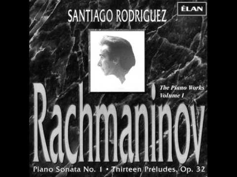 SANTIAGO RODRIGUEZ plays RACHMANINOV Piano Sonata No.1 (1993)