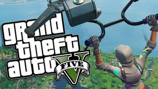 GTA 5 Mods - FORTNITE GLIDER MOD w/ TEKNIQUE (GTA 5 Mods Gameplay)