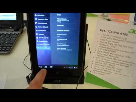 Acer Iconia Tab A100 Honeycomb Hands On