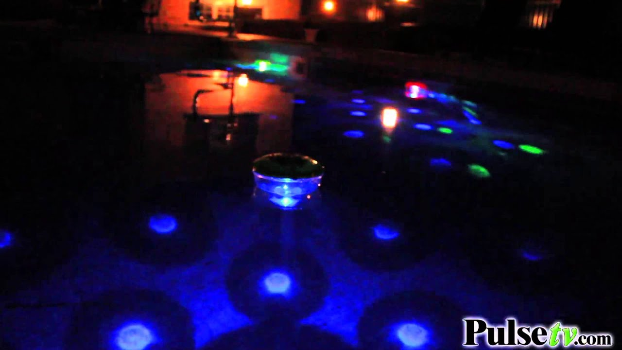 Underwater light show the floating disco ball youtube for Pool light show waikiki