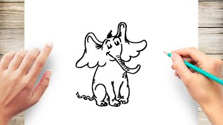 How to Draw Horton Hears A Who Step by Step