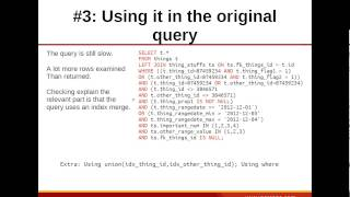 Really Large MySQL Queries: Advanced Optimization Techniques | Percona Database Performance