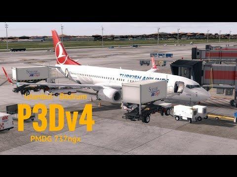 [P3Dv4] Istanbul (LTBA) - Milas Bodrum (LTFE) | Pmdg 737ngx | TURKISH AIRLINES | TUTORIAL