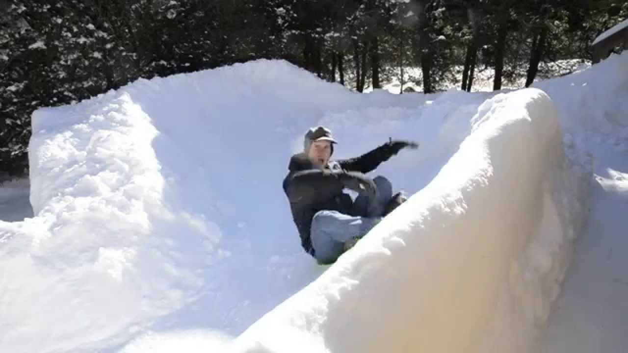 solo sled run down the backyard luge course youtube