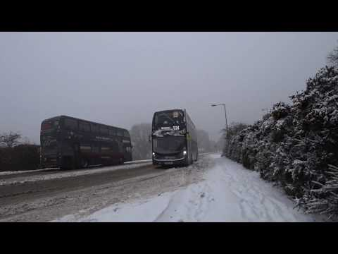 Walsall To Birmingham By Bus In The Aftermath Of The Beast From The East 3 March 2018
