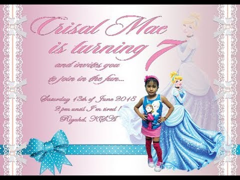 how to create birthday invitation card in photoshop cc 2015 youtube