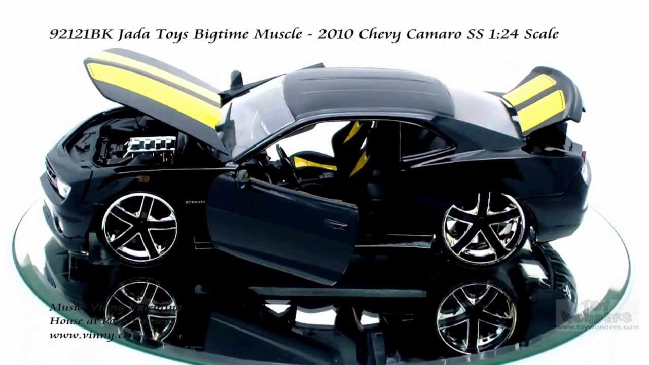 92121bk Jada Toys Bigtime Muscle 2010 Chevy Camaro Ss 124 Scale