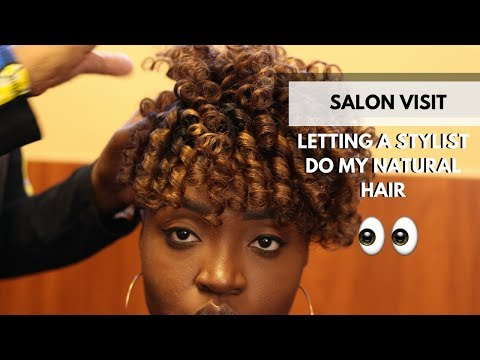 Stylist Does My Natural Hair | Salon Visit