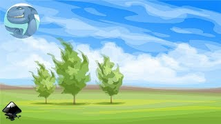 How to draw a simple landscape with trees in Inkscape