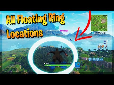 Fortnite - ''Skydive through floating Rings'' - ALL LOCATIONS! Fortnite Week 10 Challenges