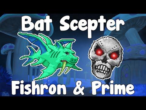 Bat Scepter VS Duke Fishron & Skeletron Prime - Terraria 1.2.4