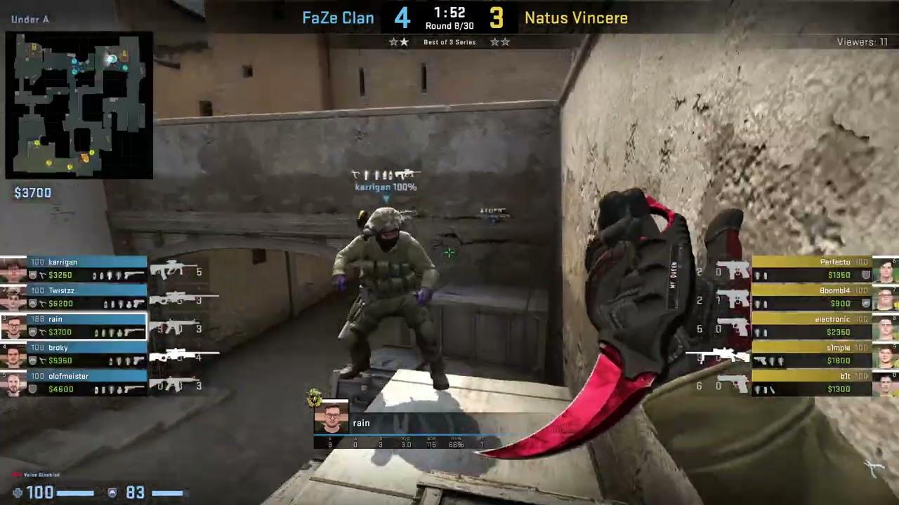 CS:GO POV Demo FaZe Rain (31/16) vs Na'Vi (de_dust2)