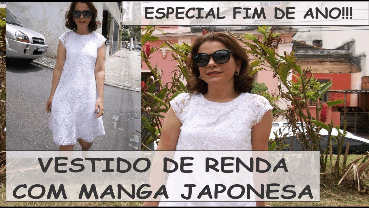 e887a5b34 VESTIDO DE RENDA COM MANGA JAPONESA - MODELAGEM COM CÉLIA ÁVILA - YouTube