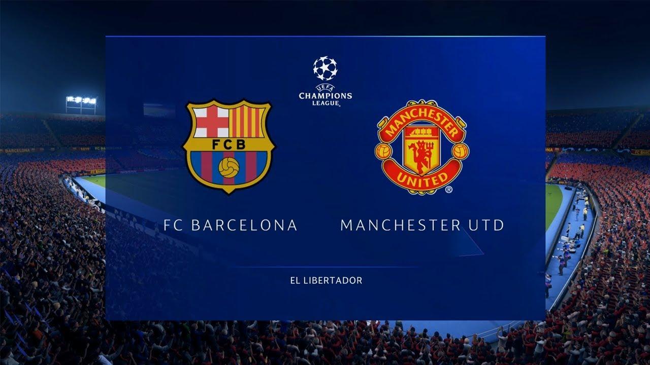 FIFA 19 | Barcelona vs Manchester United | UEFA Champions League Quarter-Final |