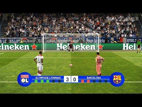 LYON vs BARCELONA | UEFA Champions League - UCL | Penalty Shootout | PES 2019