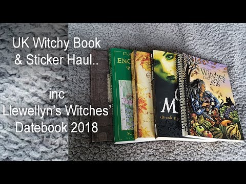 (UK Review ) Llewellyn's Witches' Datebook 2018 + Other Books & Witchy Stickers Haul / Unboxing