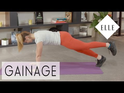 Session de gainage par Marine Leleu┃ELLE Fitness