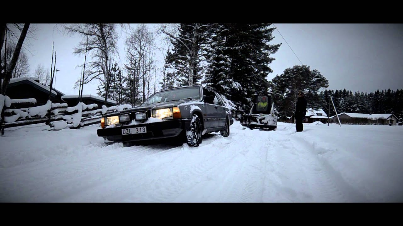 Drift Car Wallpaper Hd Volvo 740 Snow Drifting In Sweden Furudal Youtube