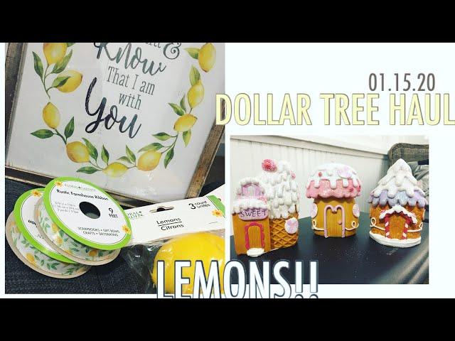 Dollar Tree Haul   Rustic Lemon Items!!!