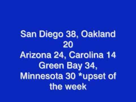 2009 NFL Week 8 Picks