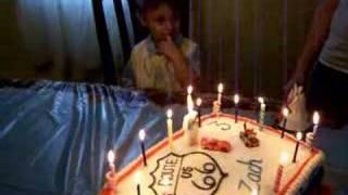Singing to Zach - 3rd Birthday