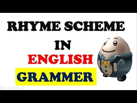 Rhyme scheme in English