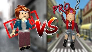 SOCIAL EXPERIENCE in ROBLOX. Noob 😒 VS Pro ?