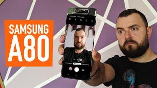 Огляд Samsung Galaxy A80. Плюси і мінуси