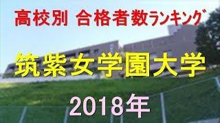 筑紫女学園大学 高校別合格者数ランキング 2018年【グラフでわかる】